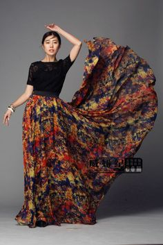 Long Gore Skirt Style #: OSS-7351. This 8 panel skirt is a great ...