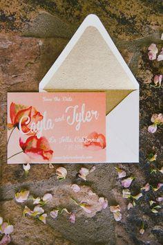 Gorgeous wedding invitation idea; photo: Emily Blake