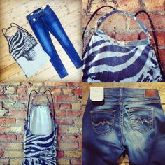 Here's a hot number for hot days ahead - skinny jeans from Pepe Jeans London and skull top from Religion Clothing UK. Available in store now! JunQi
