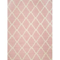 Found it at Wayfair - Marrakech Trellis Hand Hooked Baby Pink Area Rug