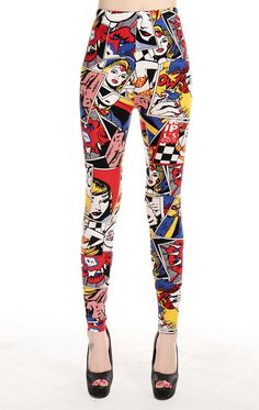Europe America Comic beauty girl letters print leggings high spandex woman novelty legging plus size free shipping SM9243