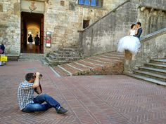 Dorin Vasilescu - Photographer www.timmistudio.com   BTS photo by : Eva Perocsenyi www.photoperocsenyi.com   Pre Wedding Session - San Gimignano, Italy