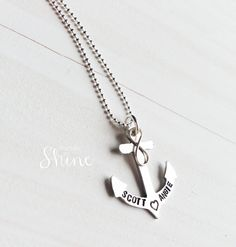 Personalized Anchor Necklace  Infinity by DesignedToShineAcc, $65.00