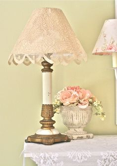 Layered Lace And Fabric Covered Lamp Shade – Top Trend – Decor – Life Style Cover Lampshade, I Love Lamp, Out Of The Closet, Fabric Samples, Lamp Shades, Fabric Covered, Girl Room, Lamp Light, Home Furnishings