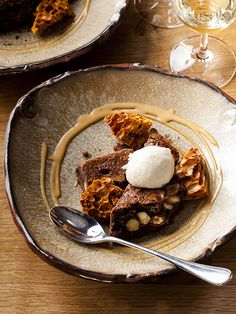 Chocolate brownie, caramel crunch and peanut butter ice cream