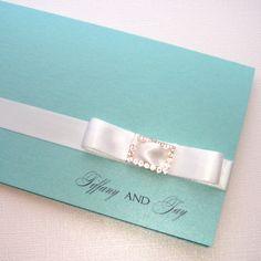 Tiffany Folded Invitationvendors: Embellished by Tiffany
