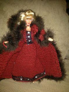 Fur coat and dress
