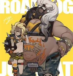 THIS. Is how you do genderbent characters.  I saw a drawing of a genderbent Roadhog and they drew her skinny with big boobs.  Like TF