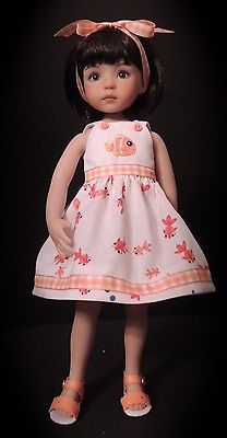 """Fishy Dress and Sandals - fits 13"""" Little Darling by Dianna Effner"""