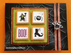 Halloween Stampin' Up Spooky Bingo Bits