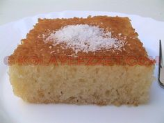 DOKUZ-KASIK-TATLISI-(HAFIF-REVANI) Vanilla Cake, Desserts, Recipes, Yogurt, Food, Ham, Eten, Tailgate Desserts, Deserts
