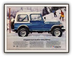 1982 JEEP Advertising Poster Print in Full by southcoaststudio, $12.00