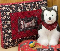 Plaid Puppy's Dog Bed | FaveQuilts.com