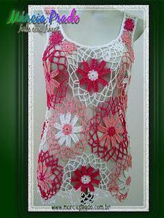 .. Crochet Tank Tops, Crochet Jumper, Crochet Summer Tops, Crochet Blouse, Easy Crochet, Knit Crochet, Crazy Outfits, Kids Outfits, Knitting Patterns