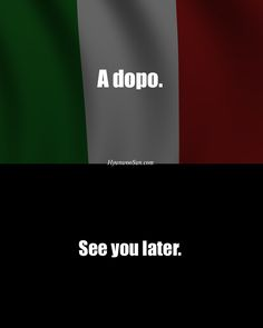 Learning Italian - See you later