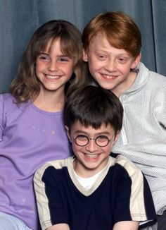 Harry Potter, adorable. It's nice to see they've grown up to be good young adults, it seems so many child stars go the wrong direction.