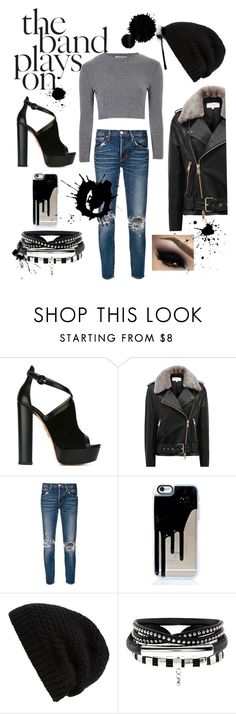 """Livin on the Edge"" by livrock-style-loveheart ❤ liked on Polyvore featuring Aquazzura, Reiss, moussy, Rick Owens and Glamorous"