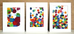 Polka dots and dots!  DIY circular paint chip art.