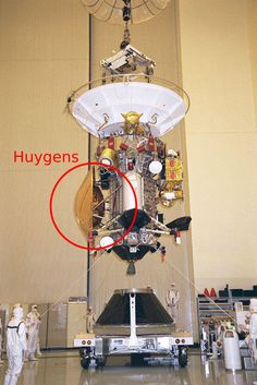 Cassini-Huygens antes de salir de casa (NASA).