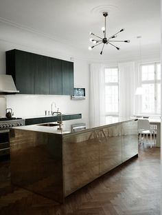 stainless steel kitchen | for industrial look | photo by pia ulin