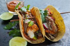 Surf & Turf Tacos is hands down the best land/ocean recipe out there and it's sure to upgradey our taco game! Great for a special occasion.