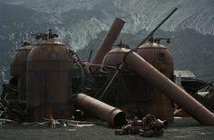 Abandoned Antarctic Whaling Station.