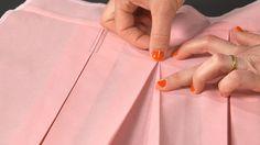 Technique couture : le pli creux