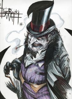 Check out these two extremely cool pieces of Batman villain Geek Art featuring The Joker and Th.Geek Art: The Joker and Penguin Comic Book Characters, Comic Character, Comic Books Art, Comic Art, Comic Villains, Batman Kunst, Batman Art, Batman Cartoon, Héros Dc Comics