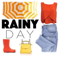 """Rain In Colors"" by ddalginanabeauty ❤ liked on Polyvore featuring Rebecca Minkoff, Essie, Hunter, Fendi, colors and rainyday"