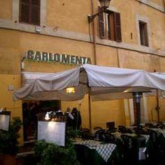 Ristorante Carlo Menta/ via della lungarette 101 trastevere