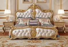 Luxury Wooden King Size Bed Master Bedroom, Buying bed isn't as simple as it seems. Then you ought to go for the Double bed, it can readily accommodate two adults and offer ample comfort. Country Master Bedroom, Royal Bedroom, Bedding Master Bedroom, Home Bedroom, Bedroom Decor, Bedroom Ideas, Bedroom 2018, Single Bedroom, Bedroom Curtains