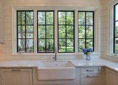 Home Bunch - so glad black frame windows are back