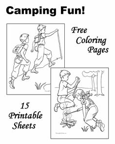 Camping coloring pages!