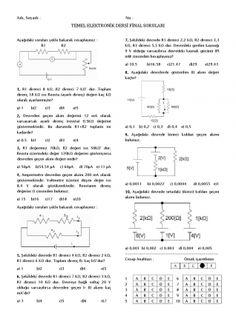 Temel Elektronik Dersi Final Soruları