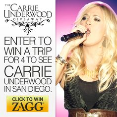Enter to Win a trip for 4 to see Carrie Underwood in San Diego!
