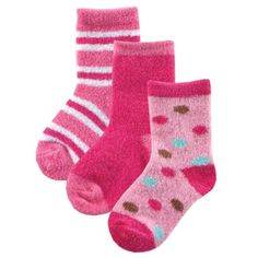 3-Pack Fuzzy Socks for Baby, Pink, 6-18 months « Clothing Impulse