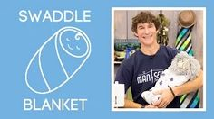 Man Sewing - YouTube how to make an easy baby swaddle blanket in Embrace double gauze 100% cotton- Rob @mansewing used our Whales Embrace Cobalt http://www.shannonfabrics.com/embrace/prints/whales-embrace-br-cobalt