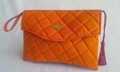 Bolsa clutch laranja
