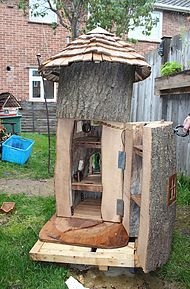 HandMade ffairy houses made to order out of whole trees