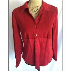 J. Jill Red Corduroy Shirt Size Small Great condition with no holes or stains. J. Jill Tops Blouses