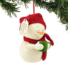 Department 56 Snowpinions From Love You More Than Coffee Ornament