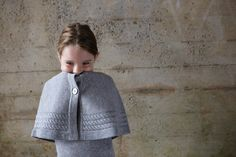 Yvette capelet and Sylvie dress in heather gray - 100% cashmere