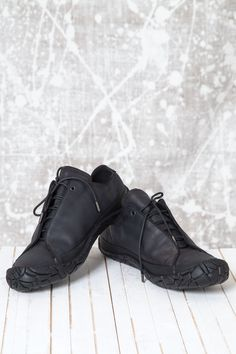 Issey Miyake Flyfront Vulcan Leather Shoes Size 9 $243 - Grailed