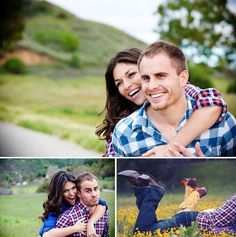 this couple is so fun! Hope I have this much fun when I'm taking me engagement photos =)