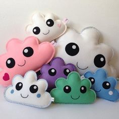 Soft Toy Patterns & Felt Plushie patterns by DreamyPatternsShop Plushie Patterns, Stuffed Toys Patterns, Sewing Crafts, Sewing Projects, Toddler Pillow, Cushion Cover Designs, Diy Bebe, Cloud Pillow, Baby Pillows