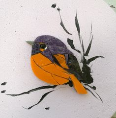 Mosaic Garden Art, Mosaic Tile Art, Mosaic Flower Pots, Mosaic Animals, Mosaic Birds, Mosaic Art Projects, Mosaic Crafts, Stained Glass Birds, Sea Glass Art