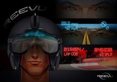Reevu motorcycle helmet is first to feature head-up display