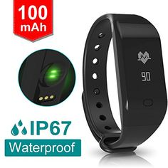 Fitpolo Fitness Tracker Heart Rate Monitor Water Proof Bluetooth Full Touch Screen USB Charging