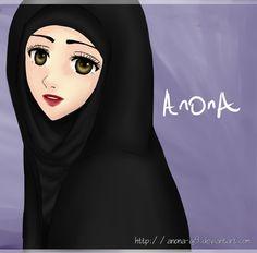 Cute and sweet Manga Anime, Anime Art, Hijab Drawing, Islamic Cartoon, Cartoon Sketches, Girl Hijab, Muslim Girls, Beautiful Hijab, Girl Boss