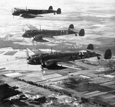 Bf 110's flying over France.